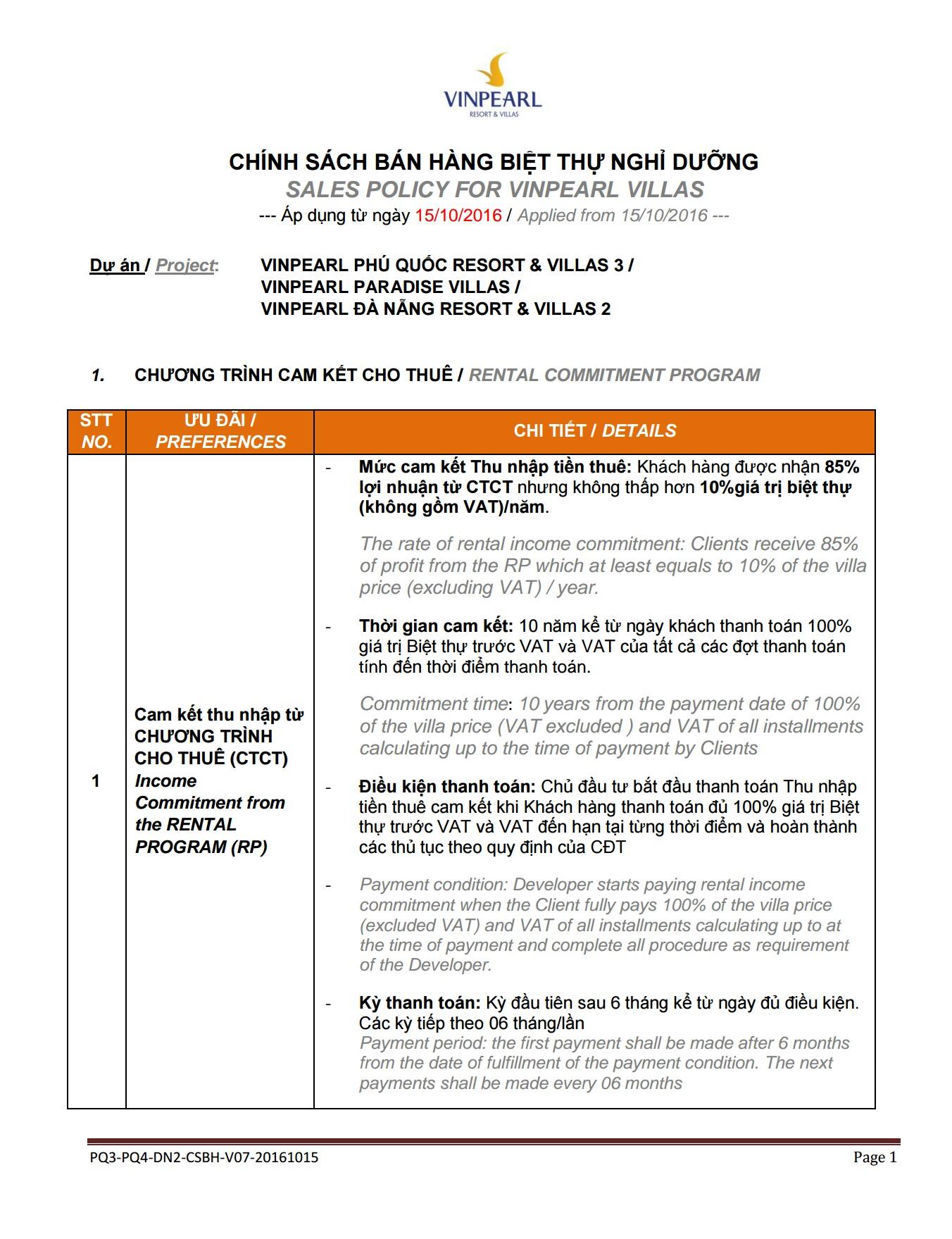 chinh sach ban hang du an vinpearl phu quoc