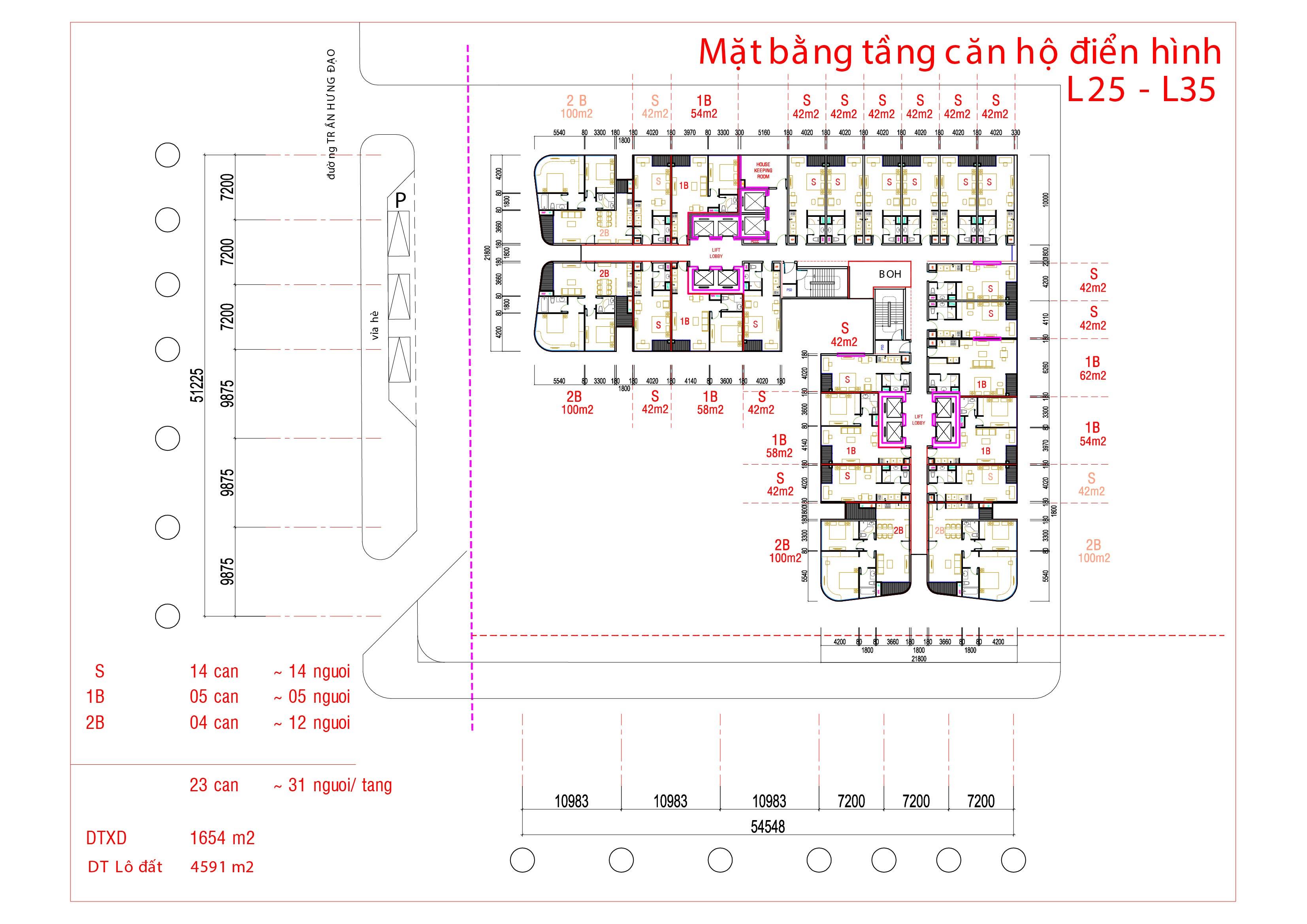 mat bang tang can ho dien hinh L25 - L35 tai vinpearl condotel da nang