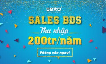 SALES BĐS THU NHẬP TRÊN 200 TRIỆU/NĂM