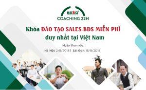 Khóa đào tạo MIỄN PHÍ cho sales BĐS tại Hà Nội và Sài Gòn trong tháng 8