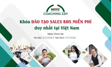 Khóa đào tạo MIỄN PHÍ cho sales BĐS tại Hà Nội và Sài Gòn trong tháng 7