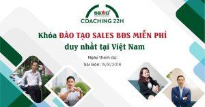 Khóa đào tạo DUY NHẤT trong tháng 8 tại TP HCM cho sales BĐS