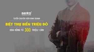 Tuyển chuyên viên kinh doanh bán BĐS triệu đô, hoa hồng từ 300 triệu/ căn.