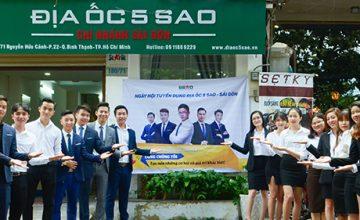 Rộn ràng ngày hội tuyển dụng Địa Ốc 5 Sao Hà Nội, Sài Gòn