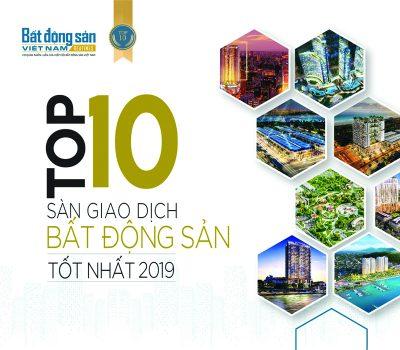 ĐỊA ỐC 5 SAO TIẾP TỤC LỌT TOP 10 SÀN GIAO DỊCH BĐS TỐT NHẤT NĂM 2019