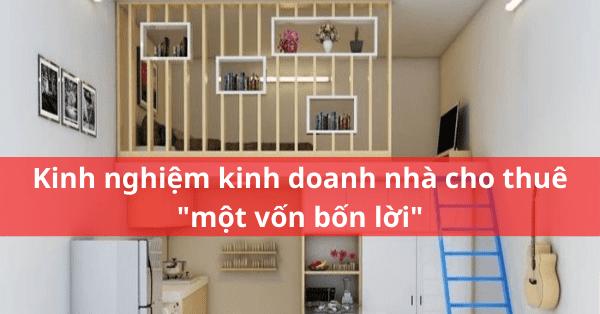 Kinh nghiệm thuê nhà cho thuê lại