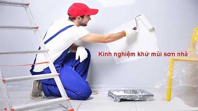 khử mùi sơn phòng