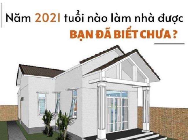 Năm 2021 tuổi nào xây nhà tốt nhất?
