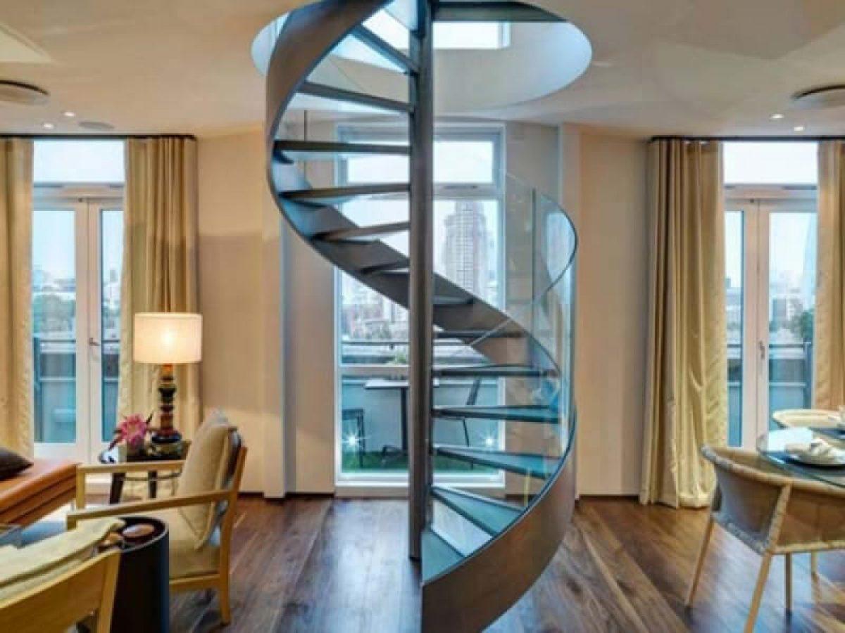 Tránh thiết kế cầu thang xoắn quanh cột