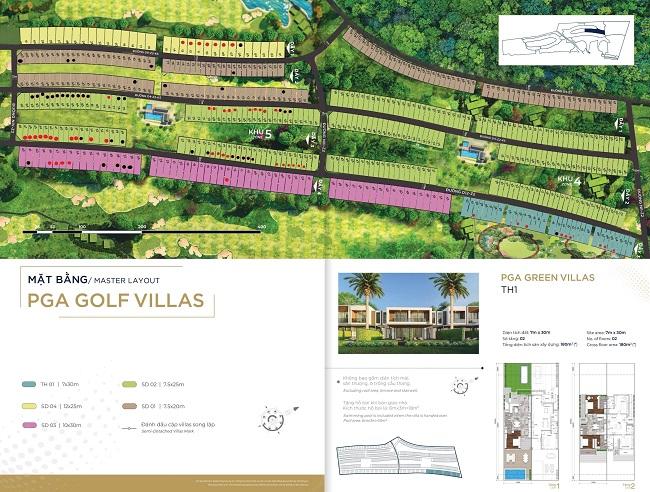 mặt bằng phân khu Villa Golf